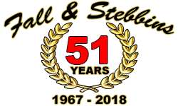Fall and Stebbins Anniversary Logo
